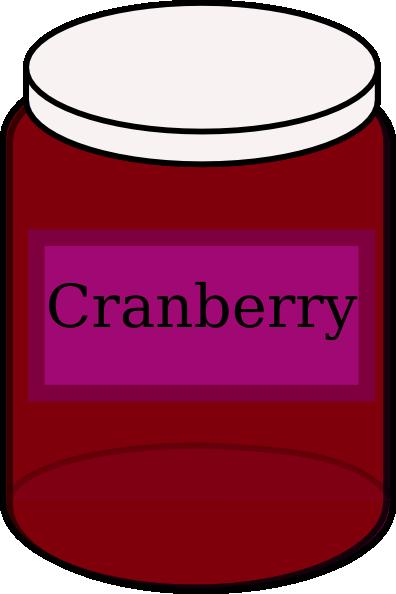 396x594 Cranberry Food Jar Clip Art