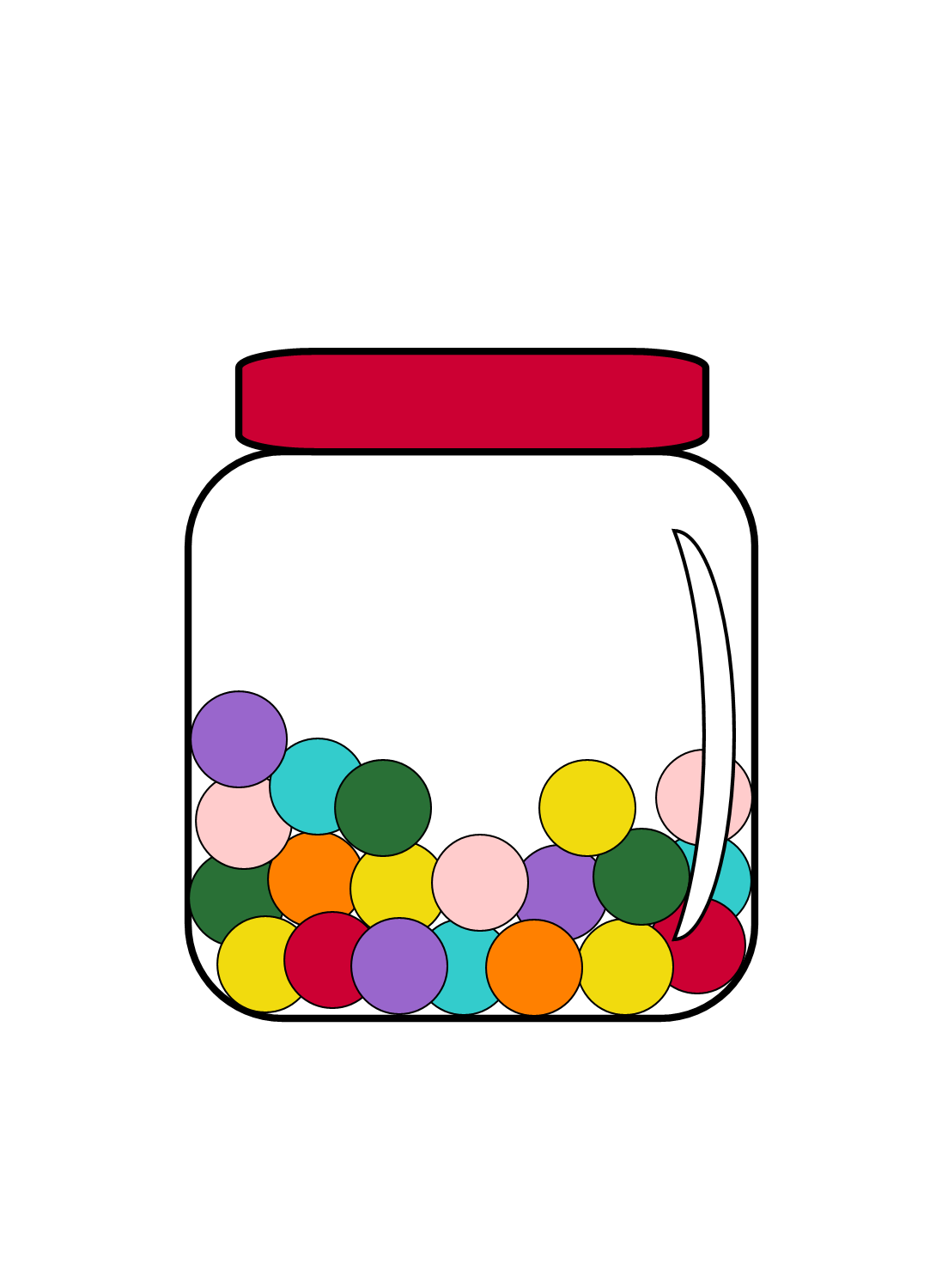 1090x1500 Jar Of Marbles Clipart
