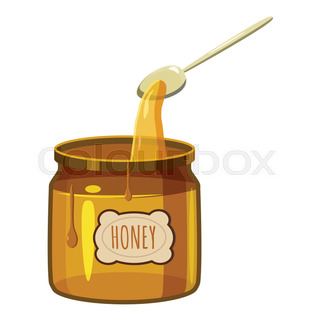 320x320 Jar Of Honey, Sketch Style Vector Illustration Isolated On White