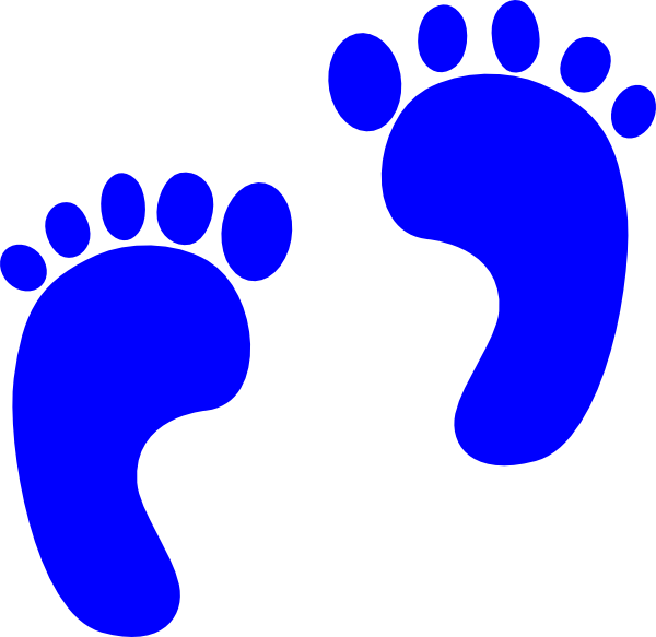 600x583 Blue Baby Footprint Clipart