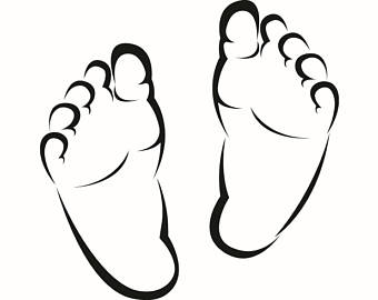 340x270 Feet Clipart Baby Shoe