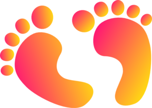 299x213 Two Tone Baby Feet Clip Art