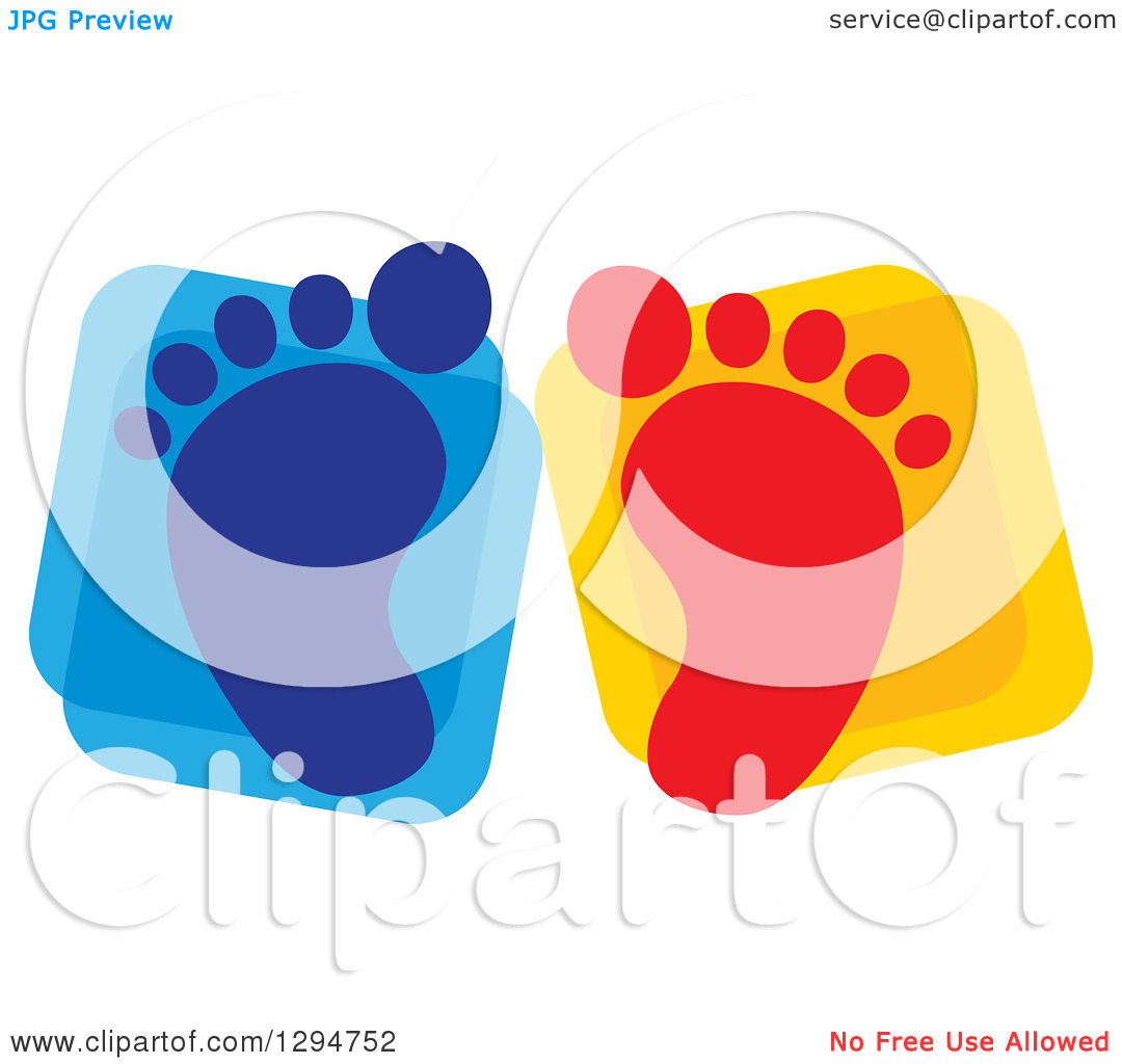 Baby Footprint Clipart