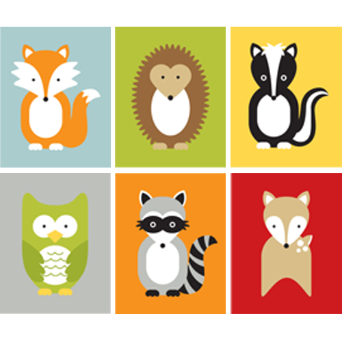500x500 WOODLAND ANIMALS CLIP ART CLIP ART