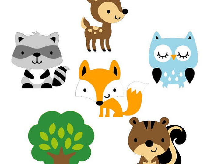 photograph about Free Printable Forest Animal Silhouettes titled Choice of Woodland clipart Cost-free obtain easiest Woodland