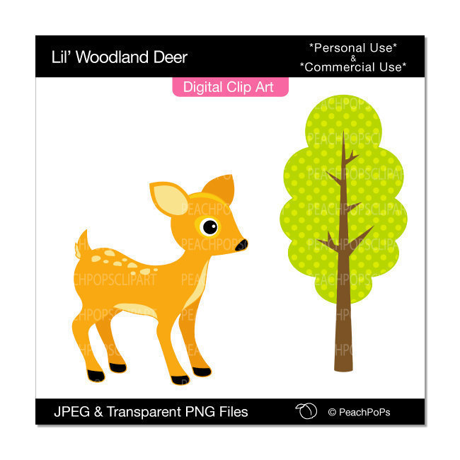 650x650 cute baby deer animals clipart