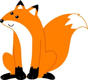300x272 Fox Black And White Baby Fox Clip Art 3