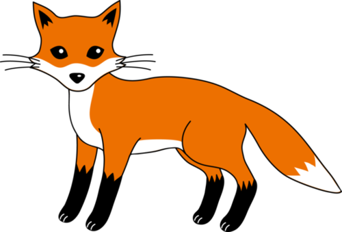 500x339 Fox clip art black and white free clipart images