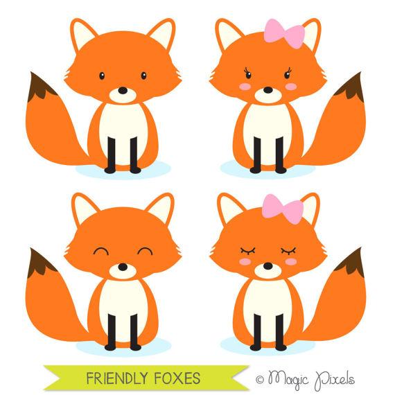 570x570 Fox Clip Art Woodland Animals Clipart Forest Animals Clip