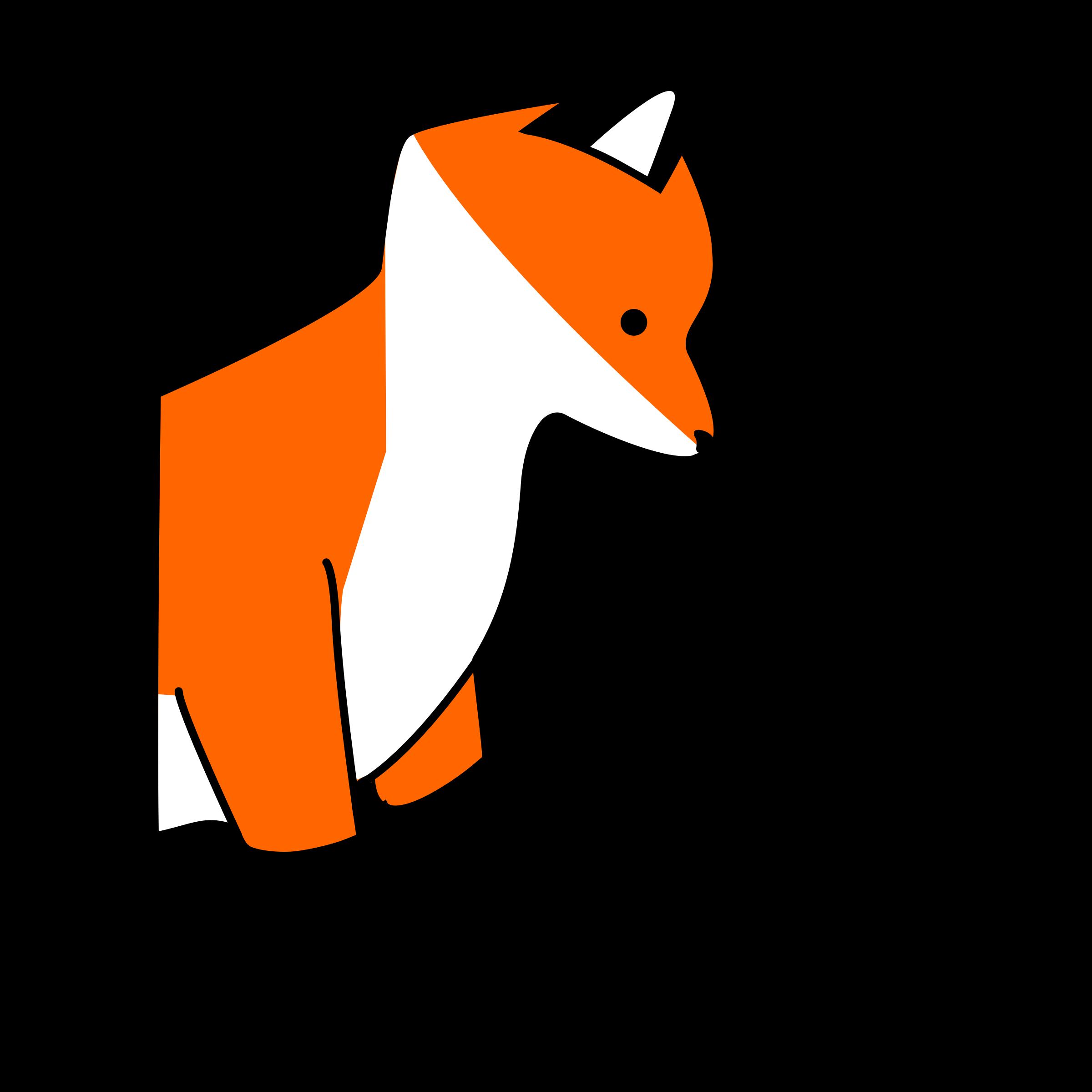 2400x2400 Baby Fox Clip Art 3
