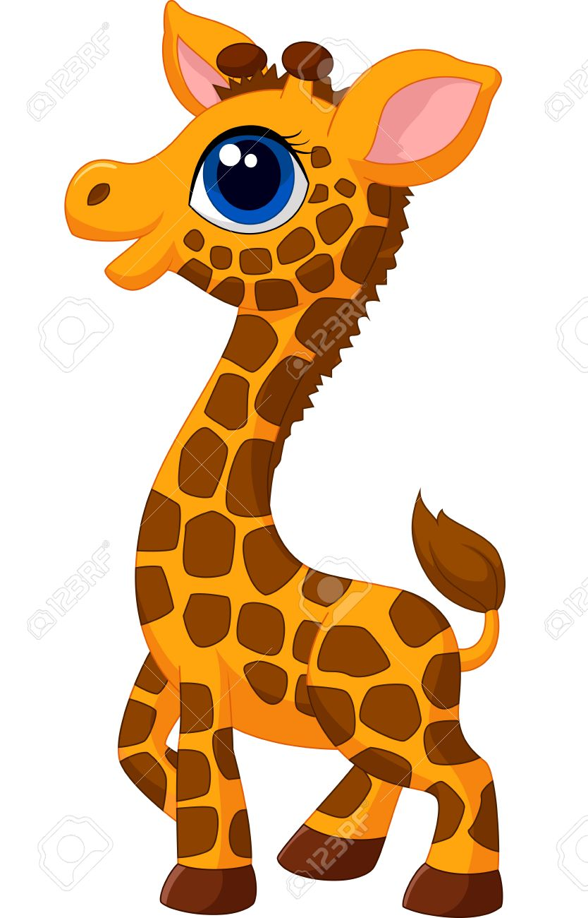 834x1300 Cute Baby Giraffe Cartoon Royalty Free Cliparts, Vectors,