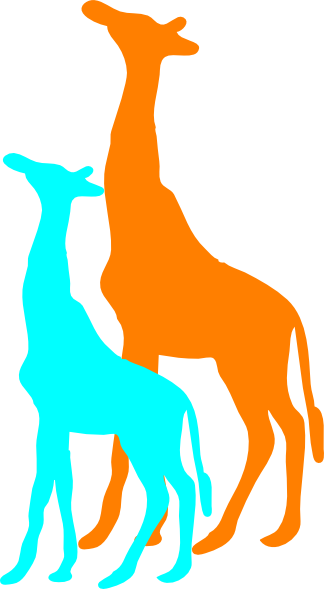 324x589 Giraffe And Baby Giraffe Clip Art