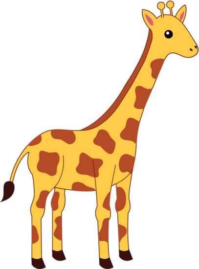 407x550 Giraffee Clipart