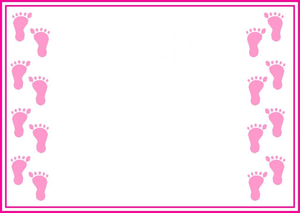 1024x728 Baby Shower Invitation Border Clip Art