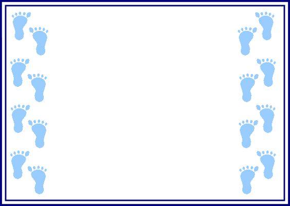 564x401 Baby Footprints Border Clipart