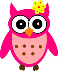 243x299 Baby Girl Owl With Bow Clip Art
