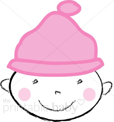 363x388 Baby With Hat Clipart Baby Girl Clipart