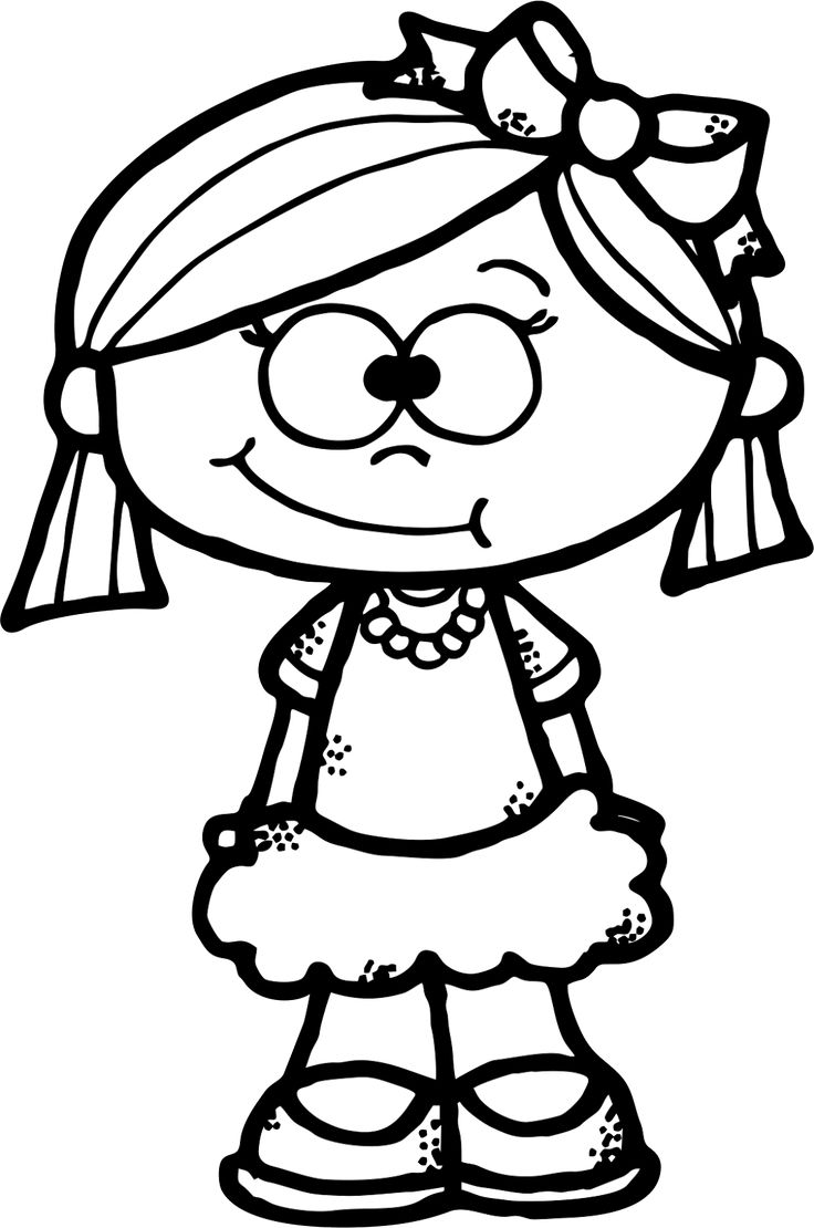 Baby Girl Clipart Black And White | Free download best ...