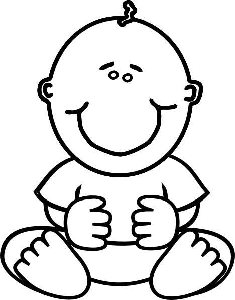 Baby Girl Clipart Black And White   Free download on ...