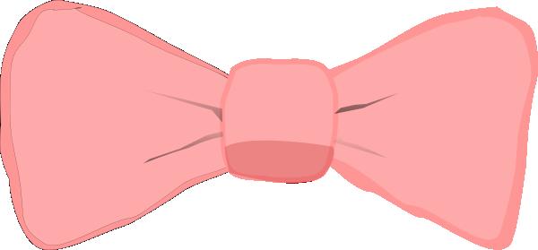 600x279 Pink Bow Clip Art