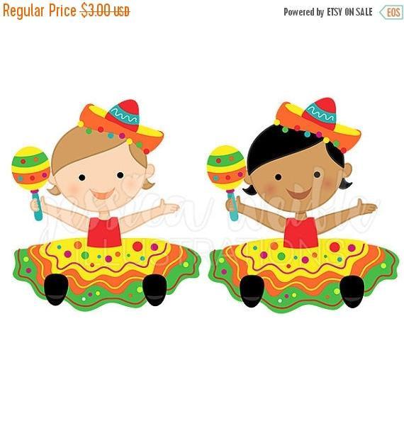 570x604 Sale Fiesta Baby Girl Cute Digital Clipart, Baby Fiesta Girl Clip