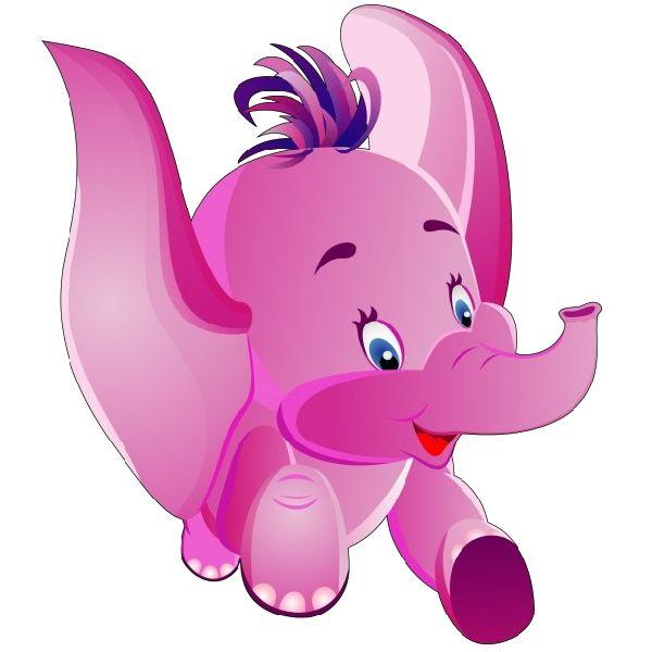 Baby Girl Elephant Clipart