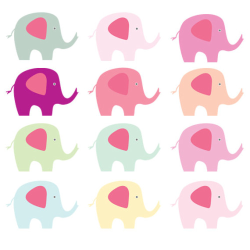 500x500 Baby Shower Pink Elephant Clipart