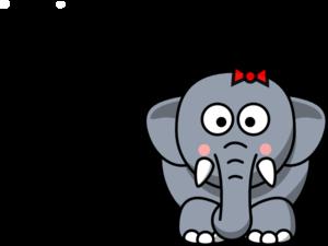 300x225 Cartoon Elephant Clip Art Clipartcow