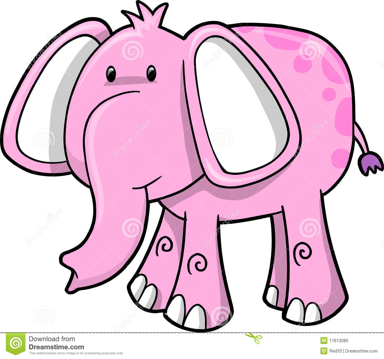 1300x1215 Cute Pink Elephant Clipart