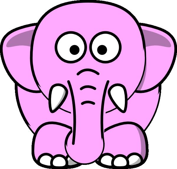 600x573 Cute Pink Elephant Clipart