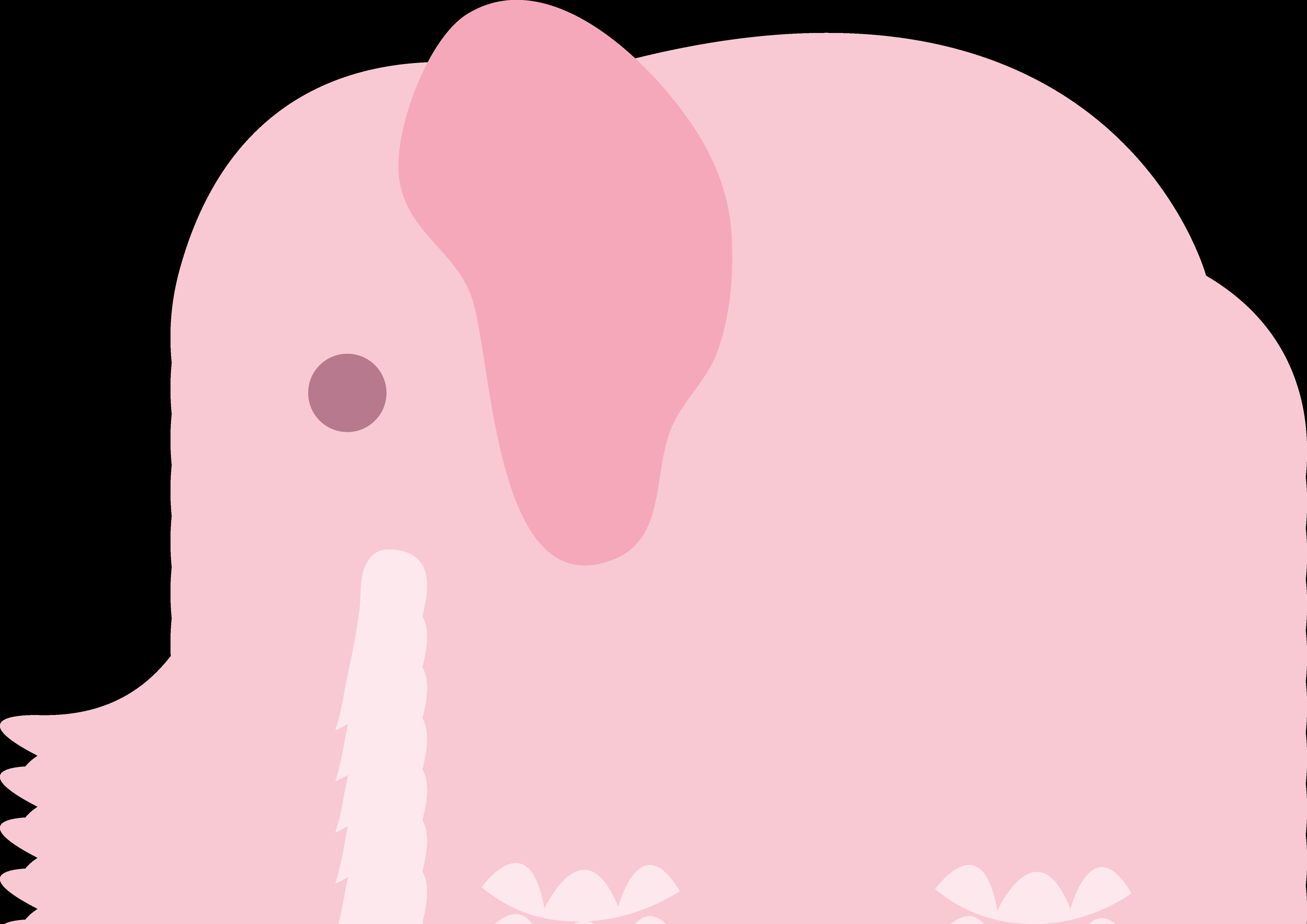 5786x4090 Little Pink Elephant Clip Art