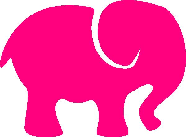 600x442 Pink Elephant Clip Art