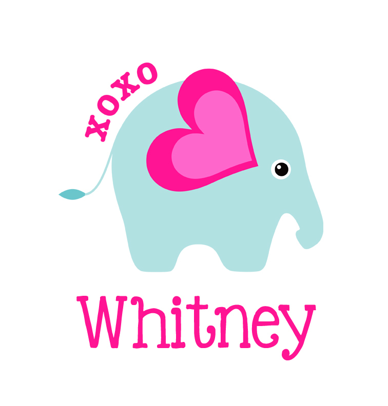 756x792 Baby Girl Name Xoxo Elephant T Shirt Personalized Baby Clothes