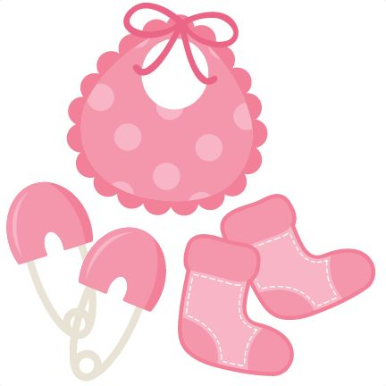 Baby Girl Footprint Clipart