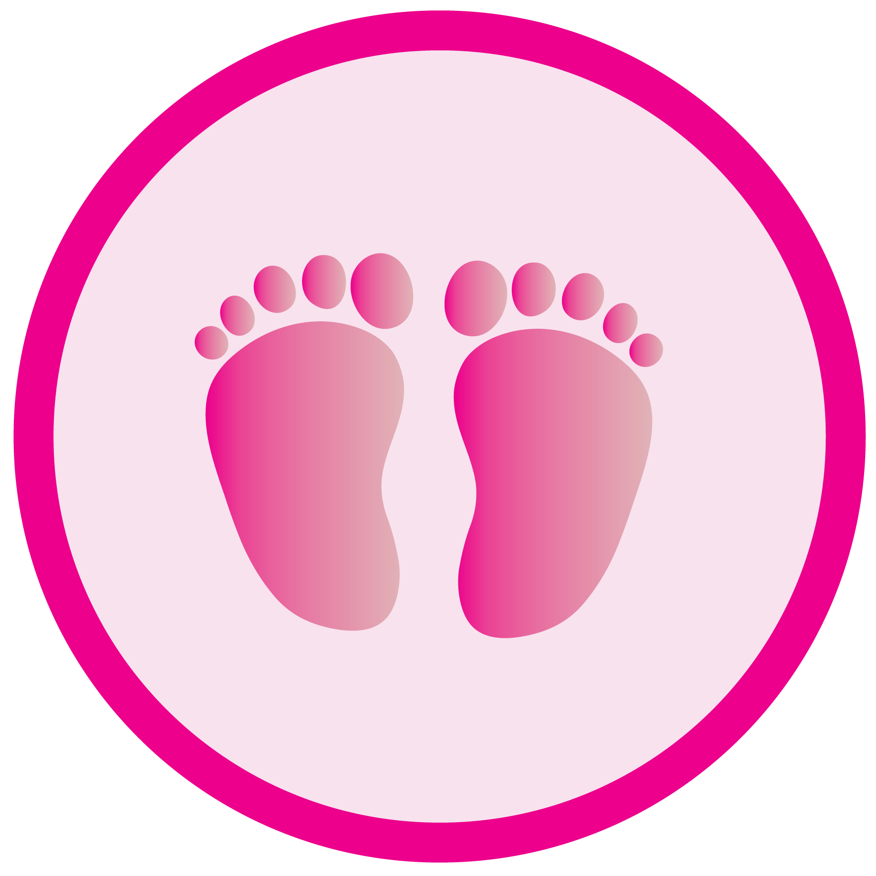 Baby Girl Footprint Clipart | Free download on ClipArtMag