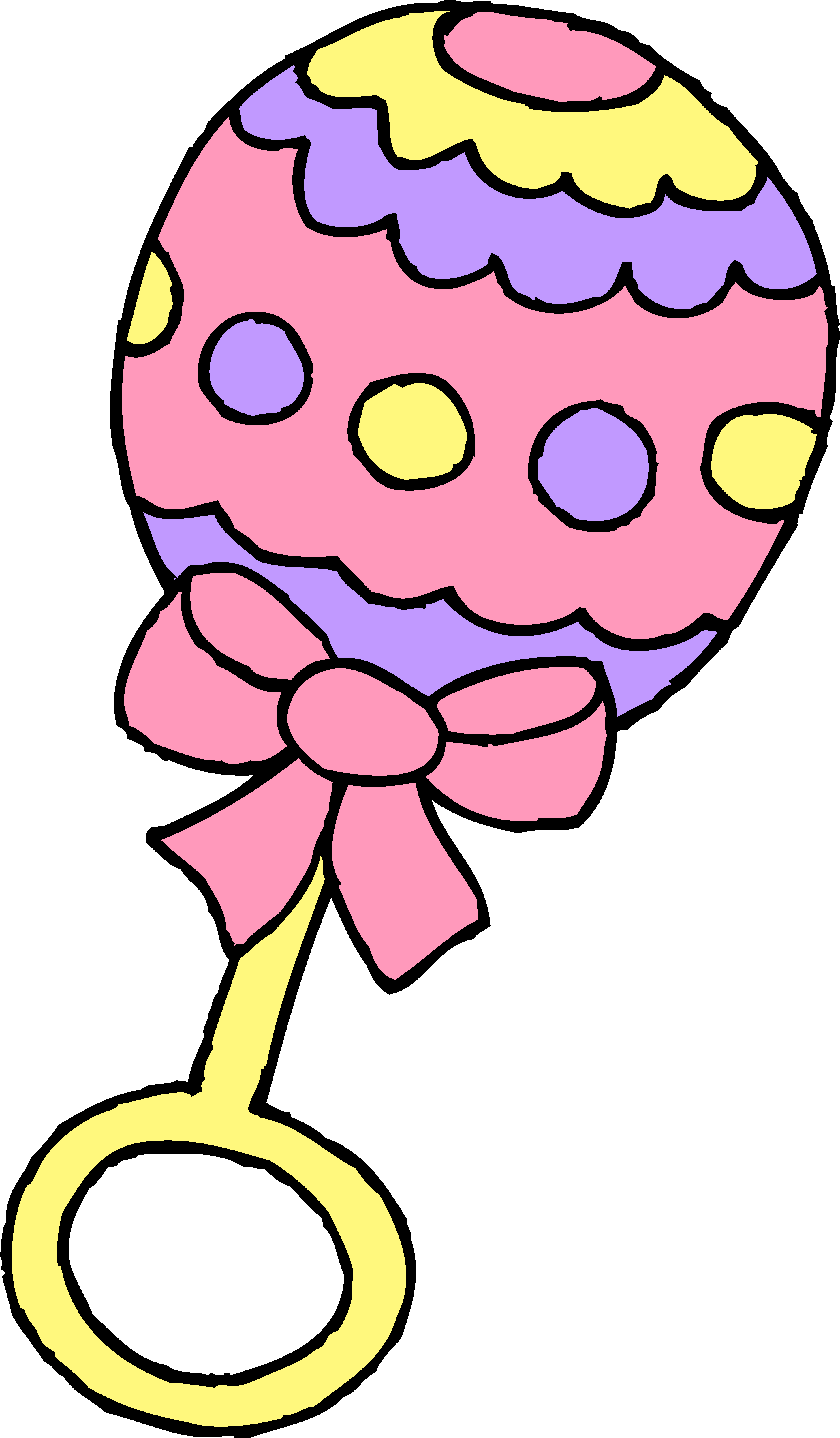 2913x4985 Pink Baby Girl Rattle Clipart