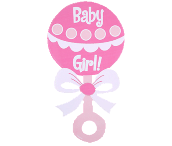 600x512 Baby Girl Rattle Clipart