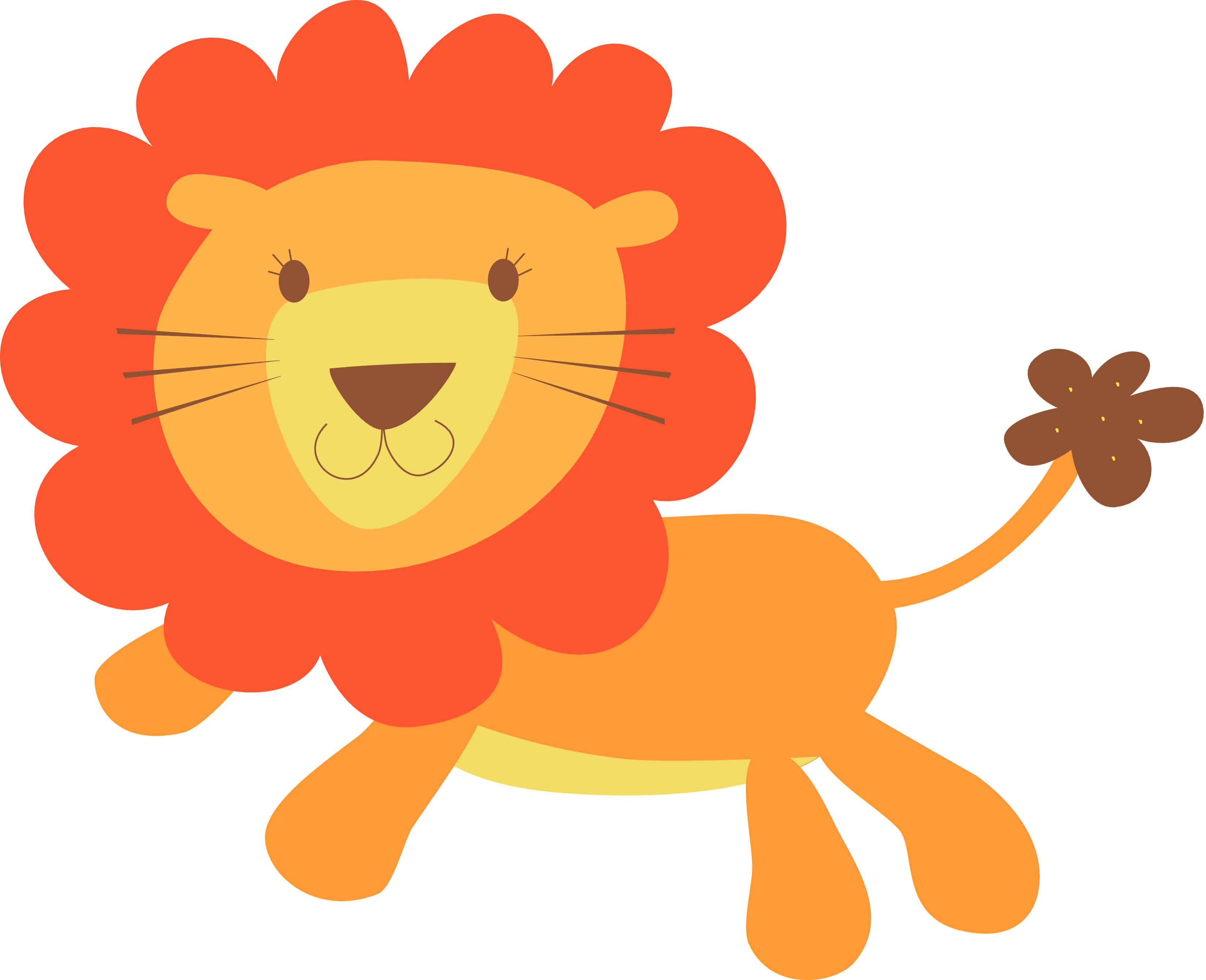 3300x2683 Baby Boy Lion Clipart