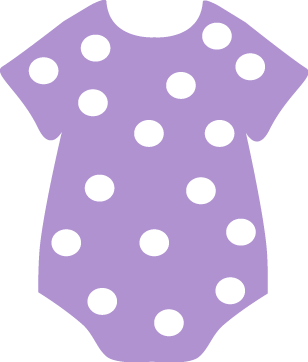 308x362 Purple Baby Girl Clip Art