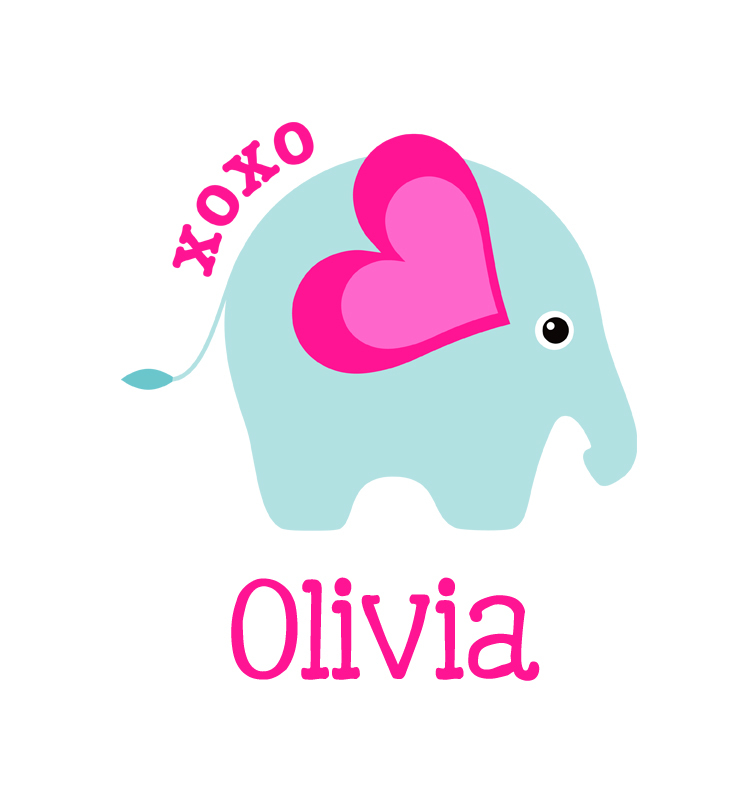 756x792 Baby Girl Name Xoxo Elephant Onesie Personalized Baby Gifts