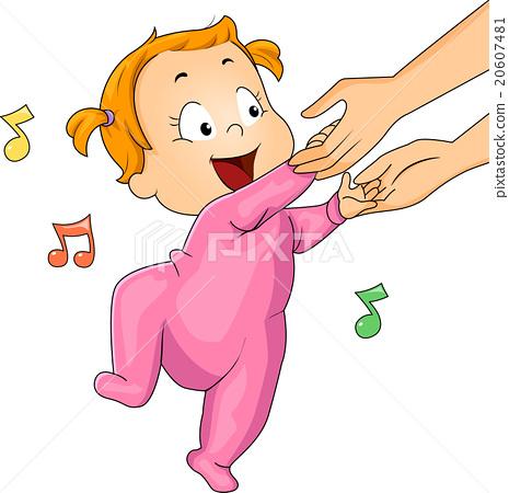 465x450 Baby Girl Onesie Dancing