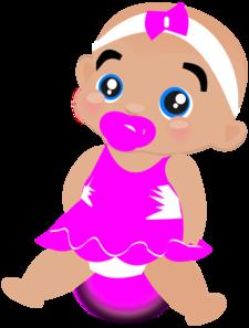 225x297 Pink Baby Girl Clip Art