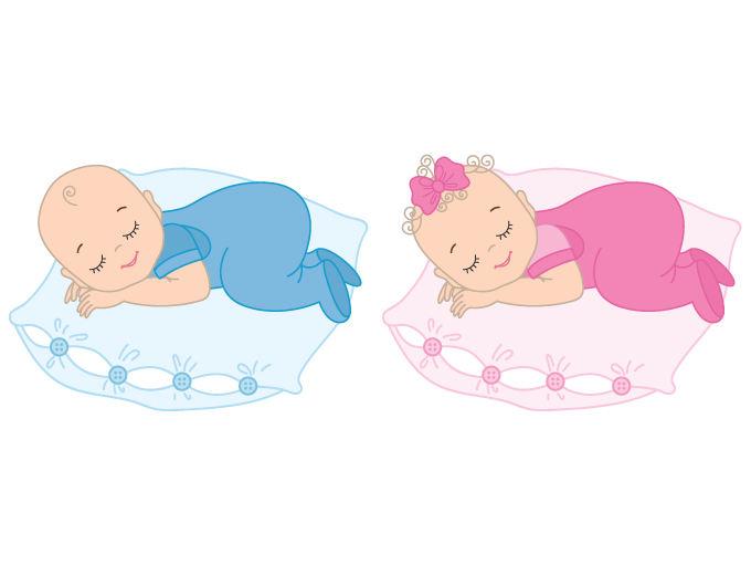 680x511 Baby Girl, Baby Boy Clipart