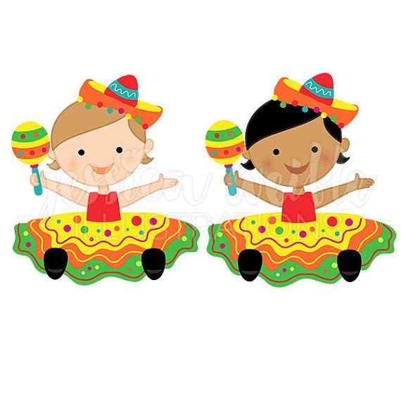 570x570 Fiesta Baby Girl Cute Digital Clipart Baby Fiesta Girl Clip
