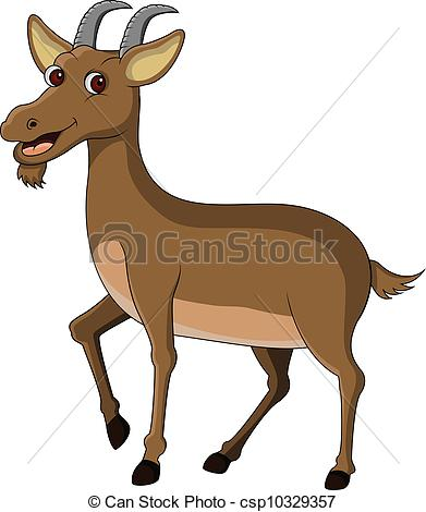 391x470 Brown Goat Clipart
