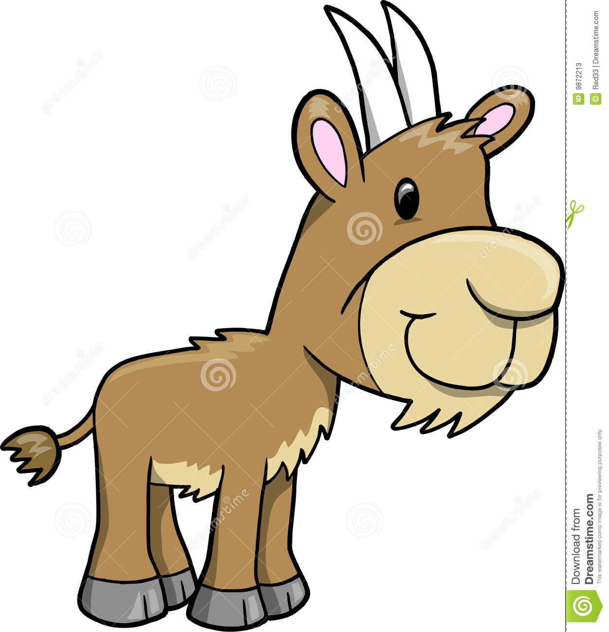 1252x1300 Mountain Goat Clipart Cute