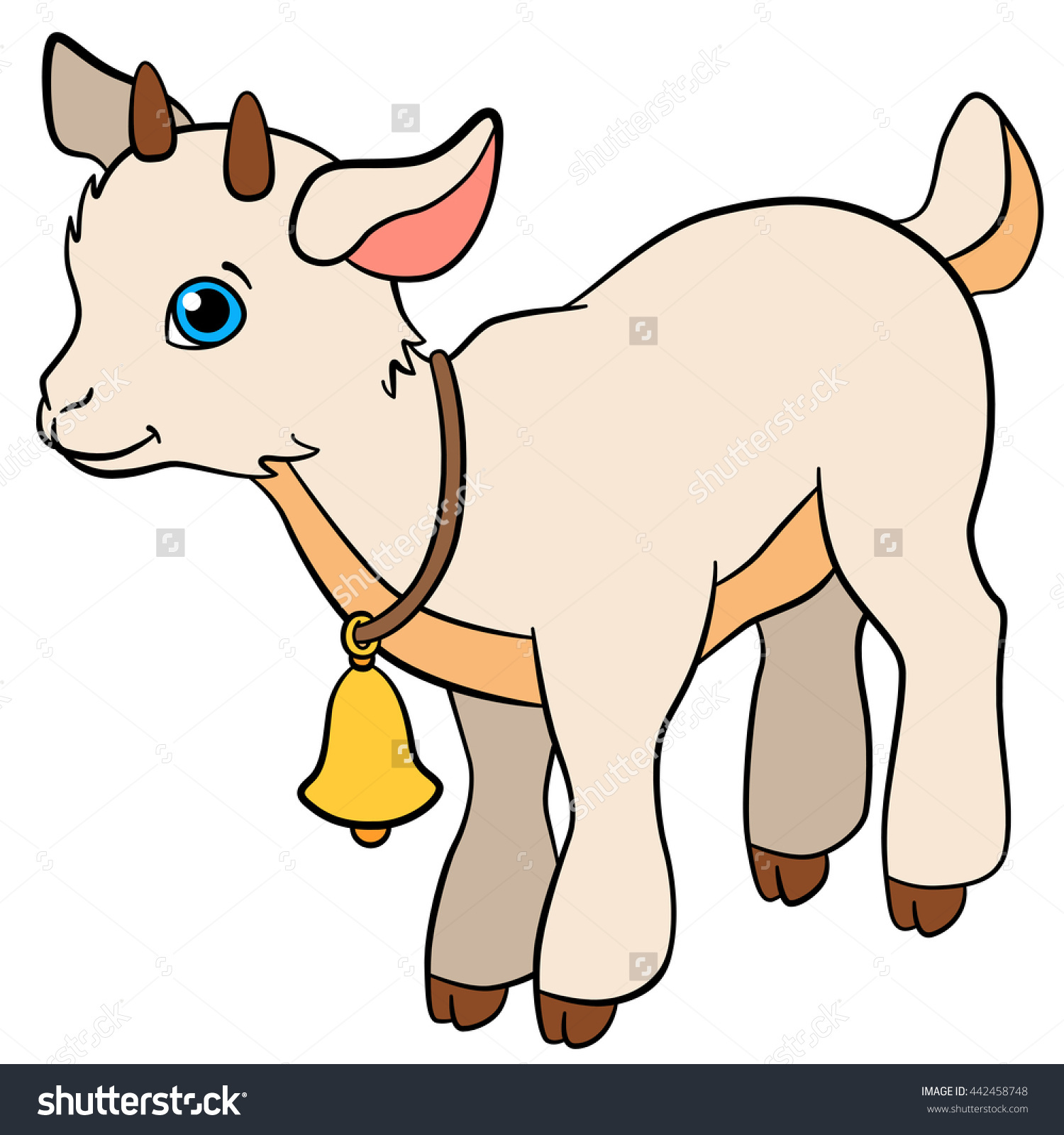1500x1600 Baby Goat Clipart