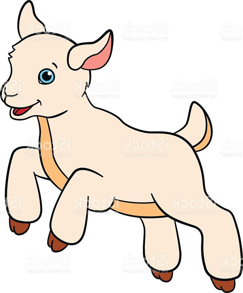 849x1024 Best Cartoon Farm Animals For Kids Little Cute Baby Goat Vector Cdr