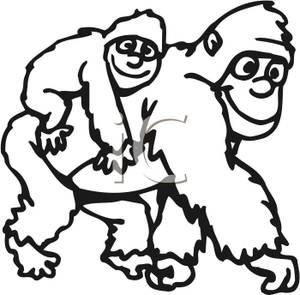 300x295 Mother Gorilla Clipart, Explore Pictures