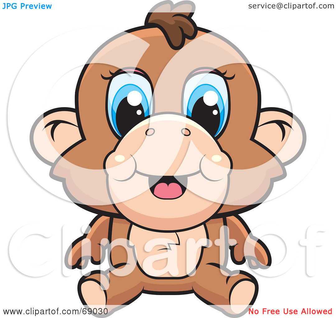 1080x1024 Baboon Clipart Baby